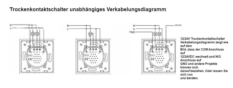 Innenleben Taster Schalter Impulsschalter 1 Fach Trockenkontakt VL ...