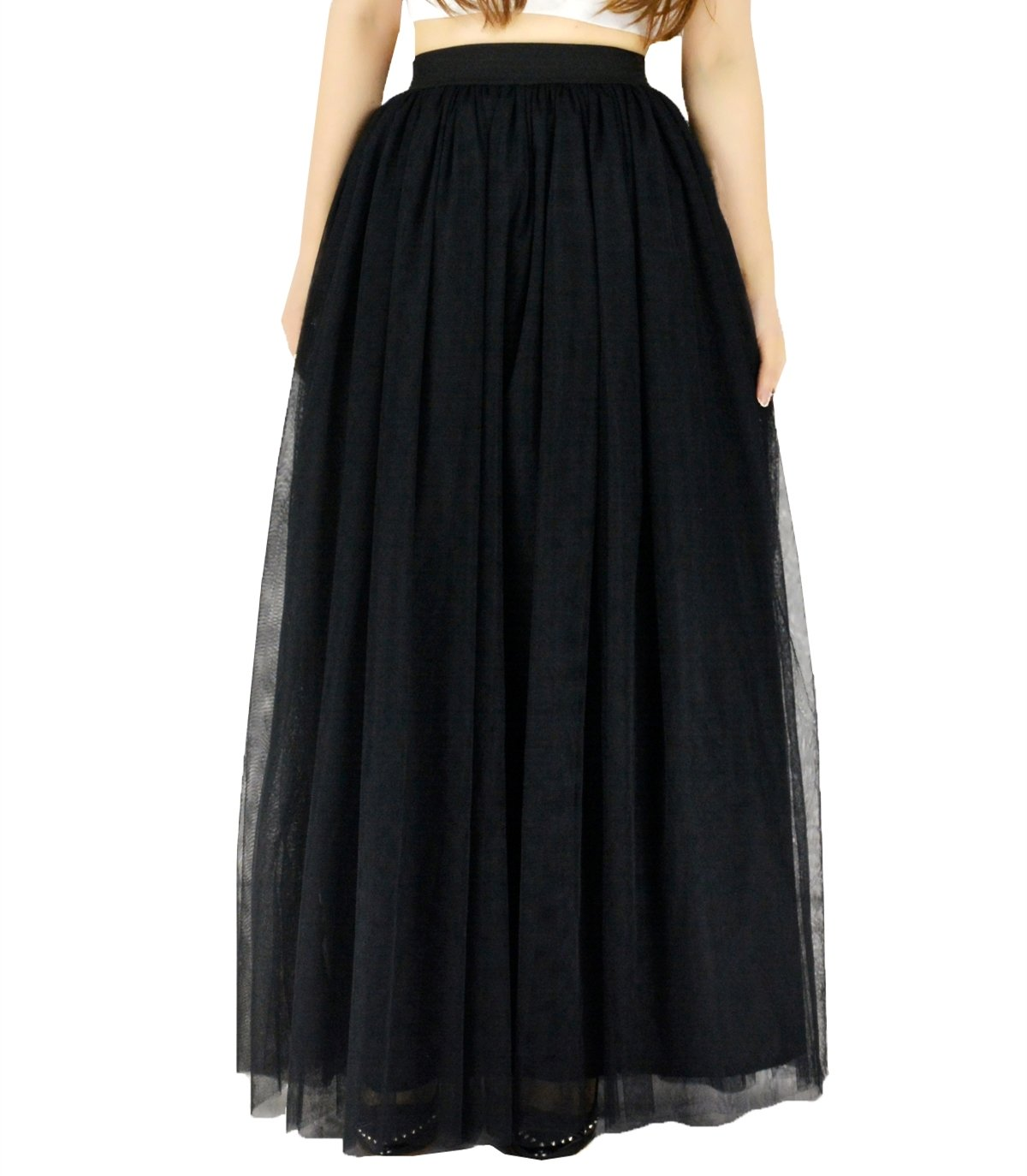 YSJ Women's 39.3 Long Bridal Wedding Petticoats Rockabilly Tutu Skirt Underskirt 017