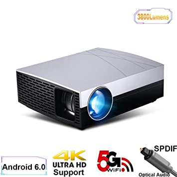 Proyectores Proyector LED Proyector Android Suppor 4K, AC3 ...
