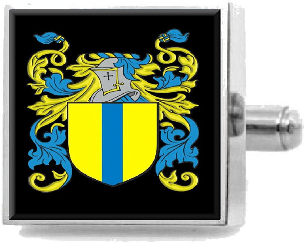 Select Gifts Topliss England Heraldry Crest Sterling Silver Cufflinks Engraved Message Box