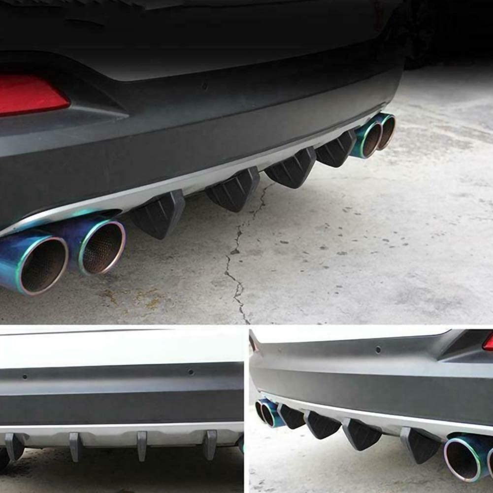 4pcs Auto Heckstoßstange Spoiler Diffusor Haifischflosse Schützen Abdeckung Universal Heck Diffusor Für Stoßstange Hinten Auto