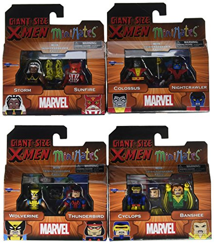 [Marvel Minimates Wave 68 Giant Size X-Men Two Pack Set of 4 Diamond] (The Wolverine Alternate Costume)