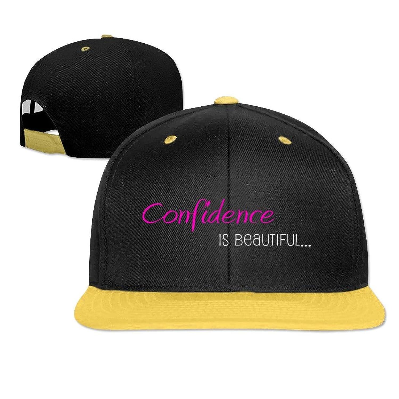 Kaho Adult Hip Hop Cap Adjustable Baseball Cap Confidence Is Beautiful Logo