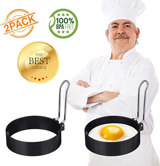 Stainless Steel Pancake Round Mold Ring Cooking Fried Egg Shaper Kitchen Tool XI