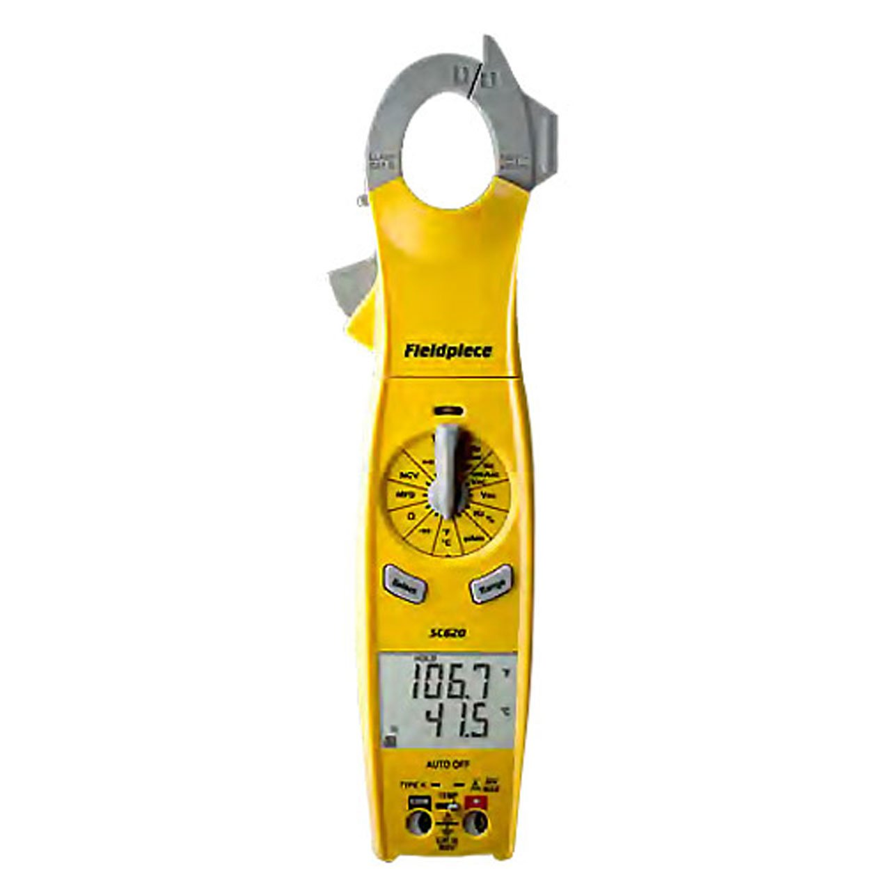 Fieldpiece SC640 Loaded Clamp Multimeter with Swivel Head and LED Flashlight