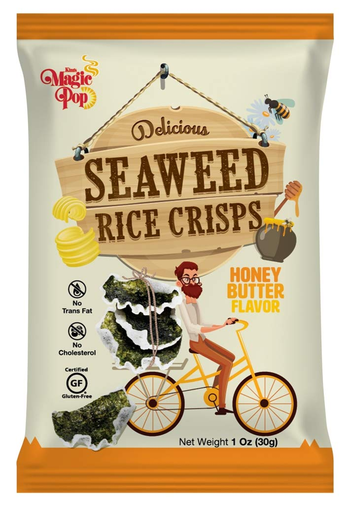 Seaweed Rice Crisps - Honey Butter Flavor (16 pack) by Kim's Magic pop (Image #1)