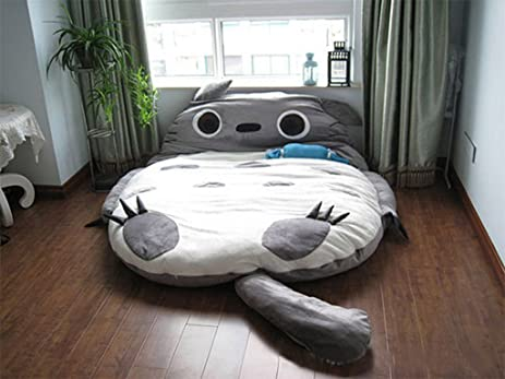 Totoro Double Bed Sleeping Bag Pad Sofa Mattress For Both Kids Or Adult