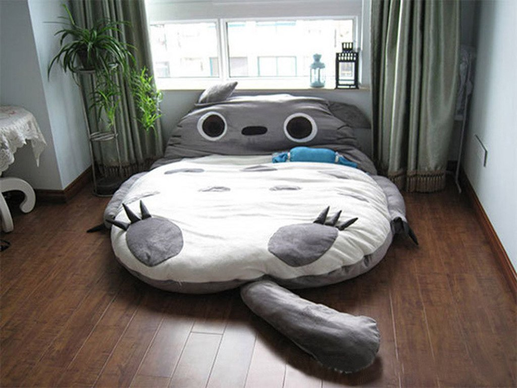 Totoro Double Bed Sleeping Bag Pad Sofa Bed Mattress for both kids Or Adult (...