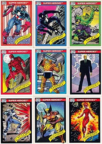 MARVEL UNIVERSE 1 1990 IMPEL COMPLETE BASE CARD SET OF 162 - Card Marvel Comic Book