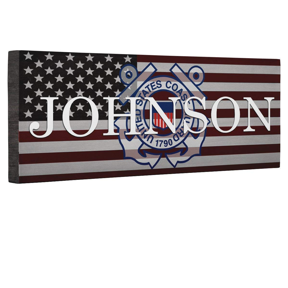 Hero Coast Guard Logo Flag CANVAS Home D cor