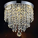 Hile Lighting KU300074 Modern Chandelier Crystal Ball Fixture Pendant Ceiling Lamp H9.84' X W8.66', 1 Light