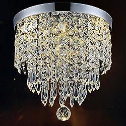 Hile Lighting KU300074 Modern Chandelier Crystal Ball Fixture Pendant Ceiling Lamp H9.84