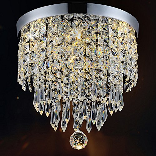Ball Pendant Lamp (Hile Lighting KU300074 Modern Chandelier Crystal Ball Fixture Pendant Ceiling Lamp H9.84