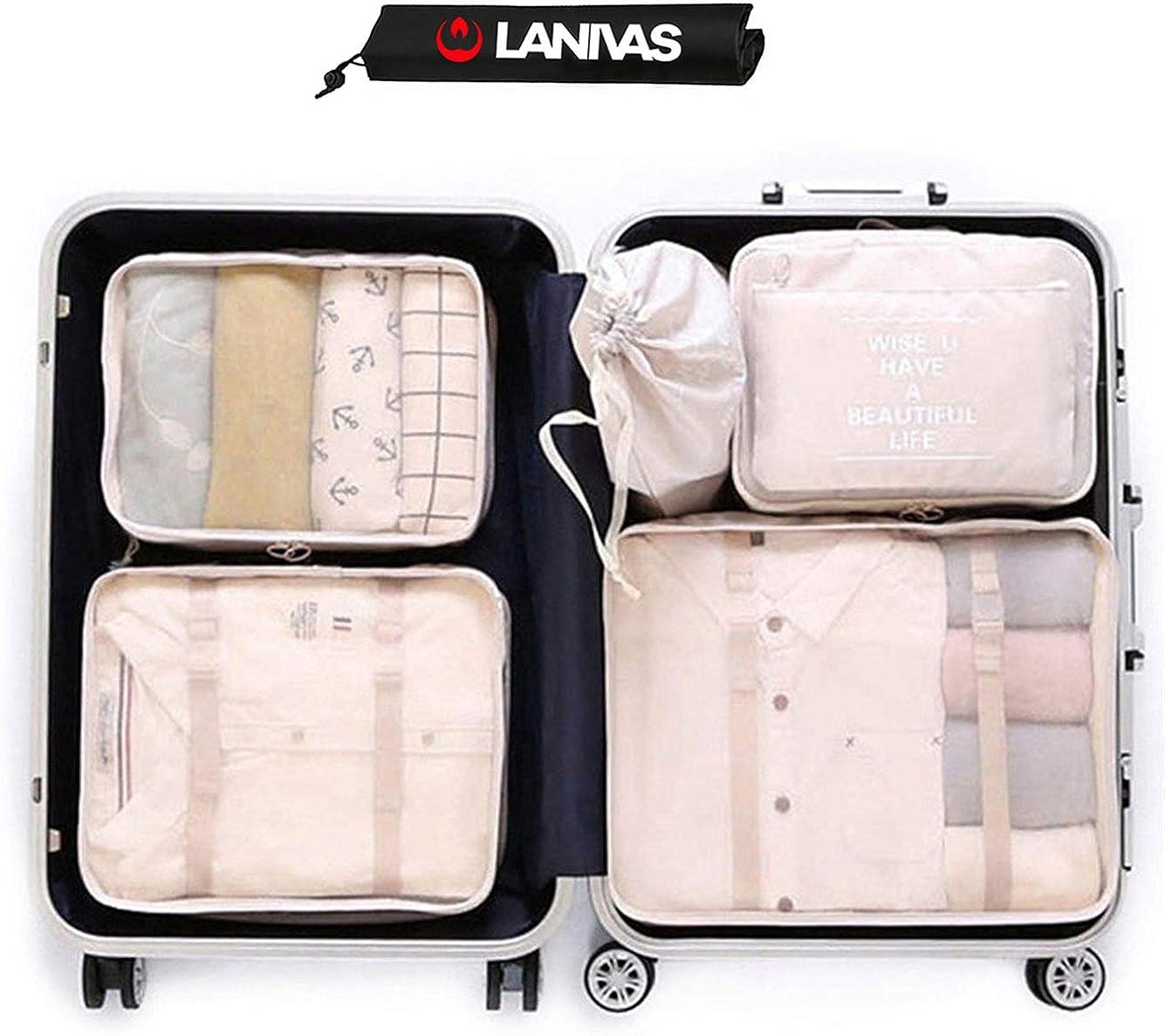 4 Set Packing Cubes Travel Luggage Packing Organizers Elephant Art