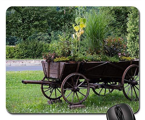 Mouse Pad - Dare Coach Wheel Wagon Horse Drawn Carriage Old