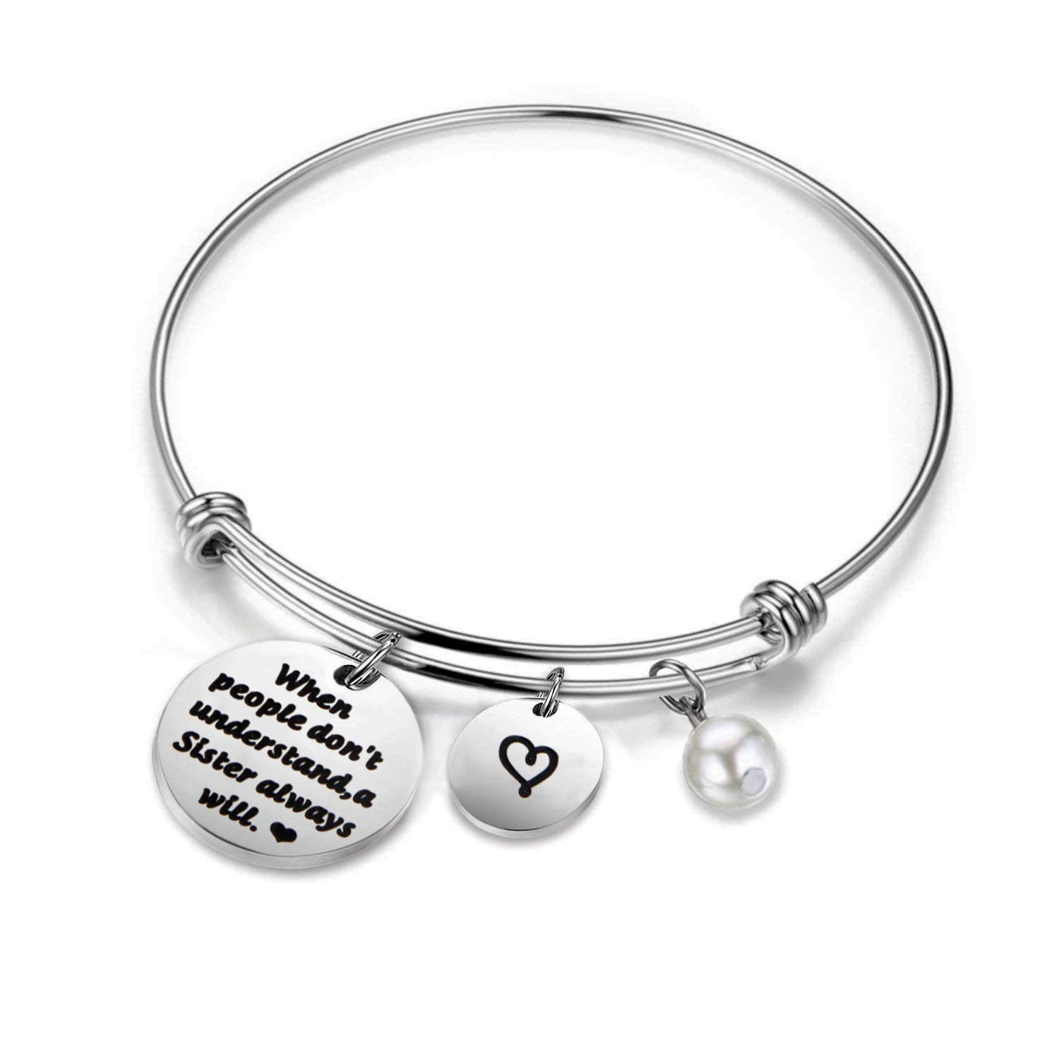 HOLLP Sister Bracelets Best Friend Jewelry When People Don't Understand A Sister Always Will Gift for Sister Jewelry