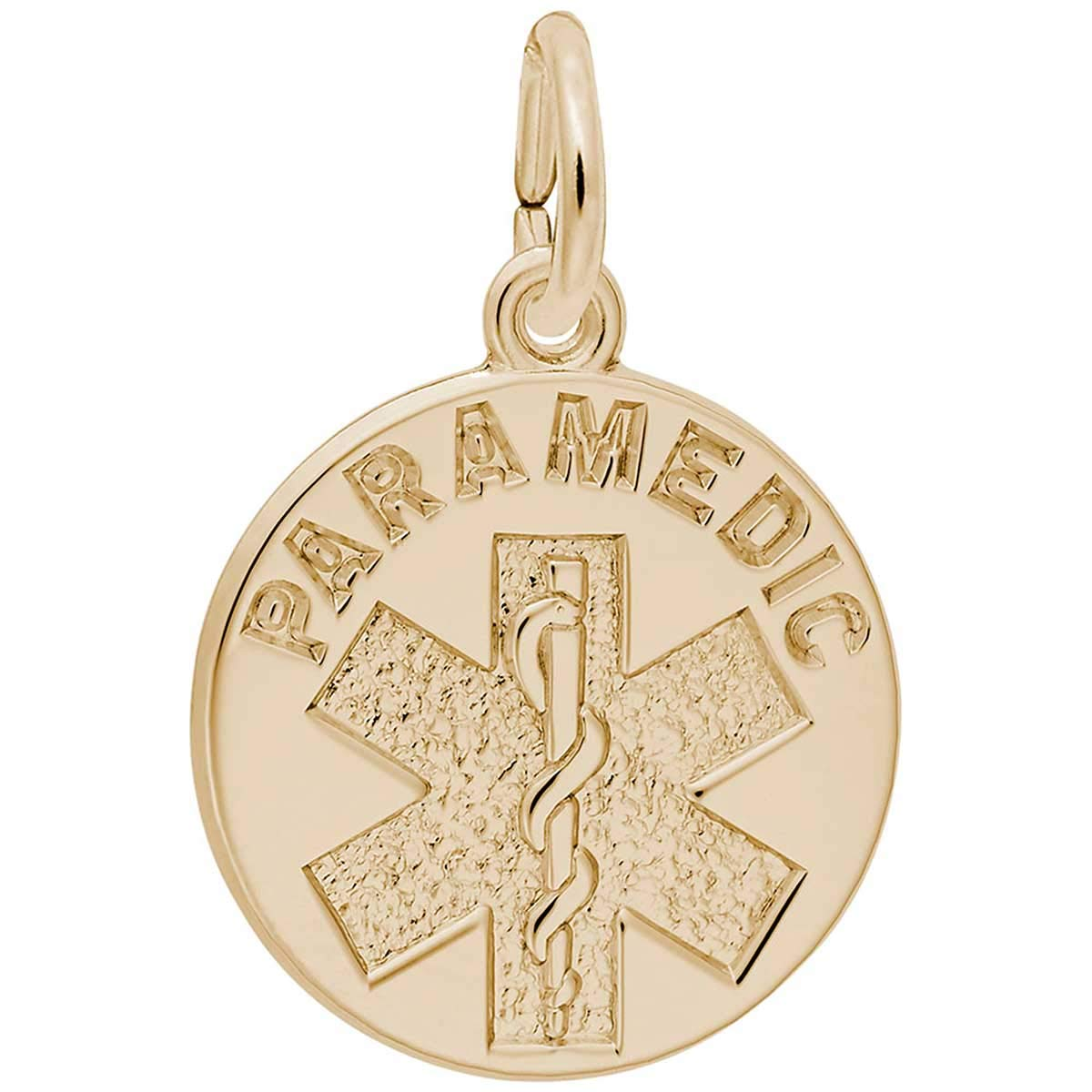Rembrandt Charms Paramedic Charm, 14K Yellow Gold