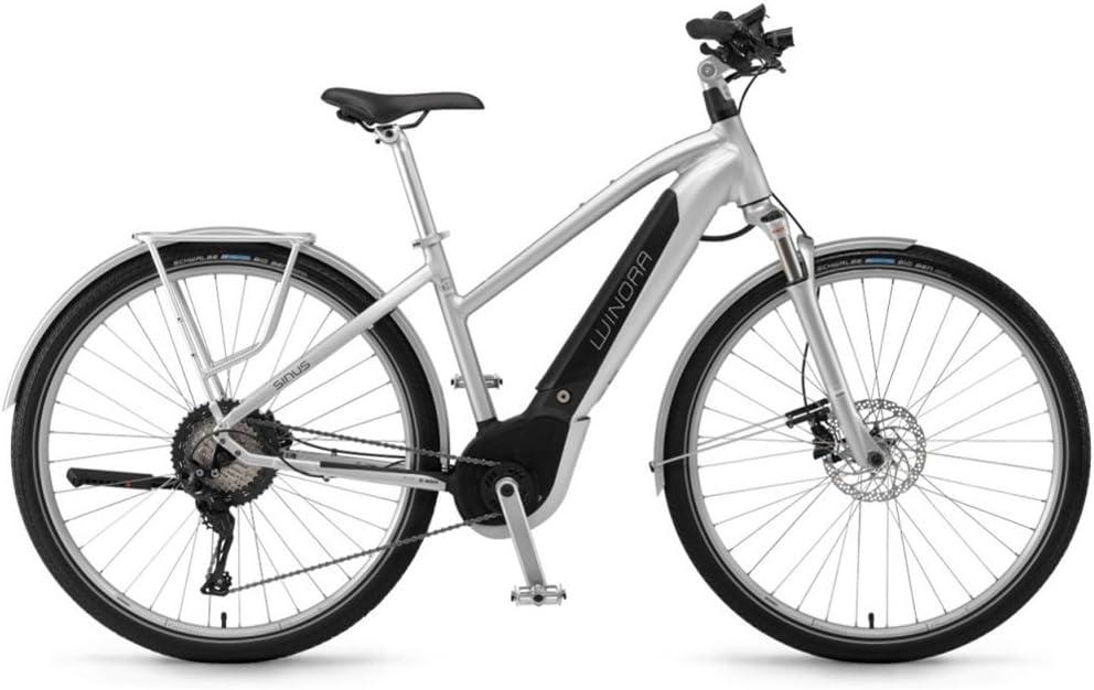 Unbekannt Winora Sinus iX11 Urban 500 WH Bosch intube Bicicleta Eléctrica 2018, Color Silver Damen, Tamaño 28