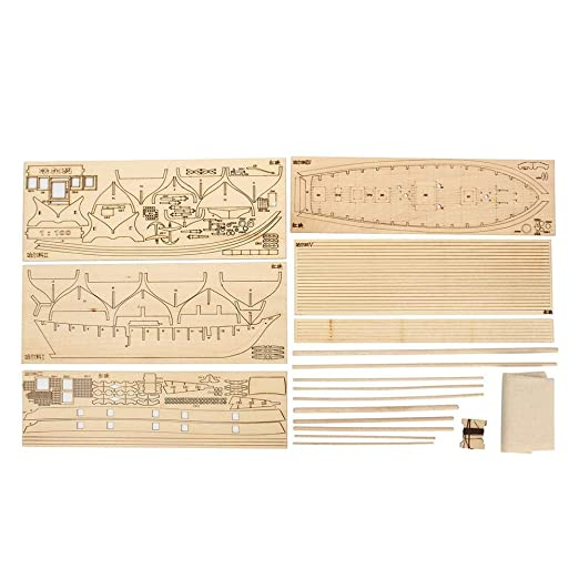 Pawaca DIY Sailing Ship Model Kits,Wooden Sailboat to Build Decor,Assembling Building Sailing Boat Kits for Kids and Adults,1840 Sailboat Toy Gift ...