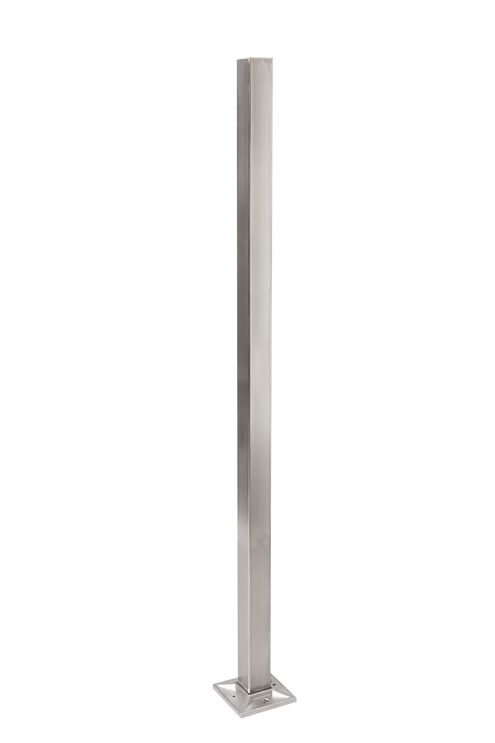 Stainless Steel Newel Post - 39 x 1.5 Inch - 44mm Square - Box of Two (Stainless) by Ascension Stair Parts