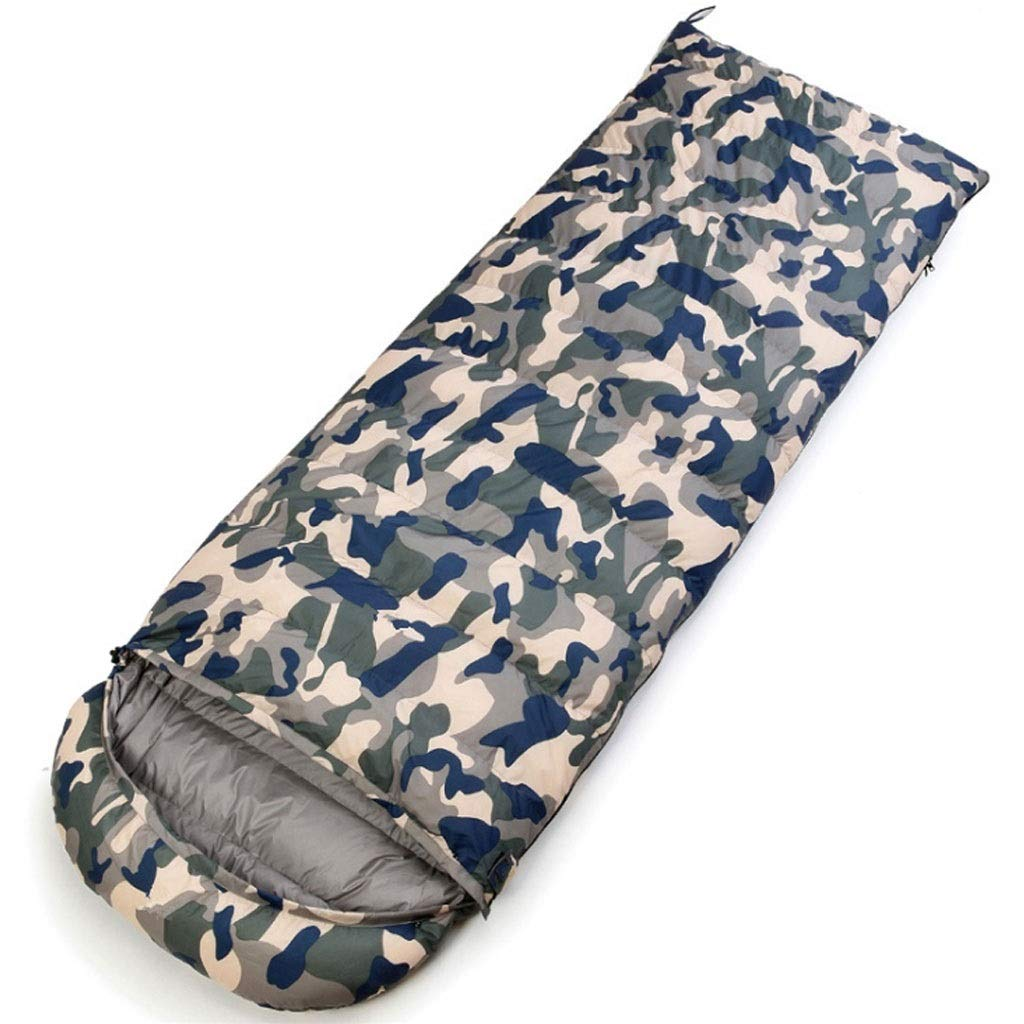 A 0.8kg DGB Envelope Sleeping Bag Ultra Light Outdoor Camping Hiking Lunch Break White Duck Down Seasons Adult Camouflage Can Be Stitched