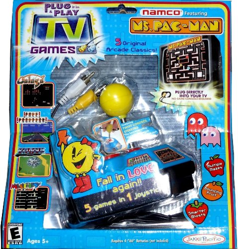 Ms. Pac-Man Plug-and-Play with 5 Classic Arcade Games