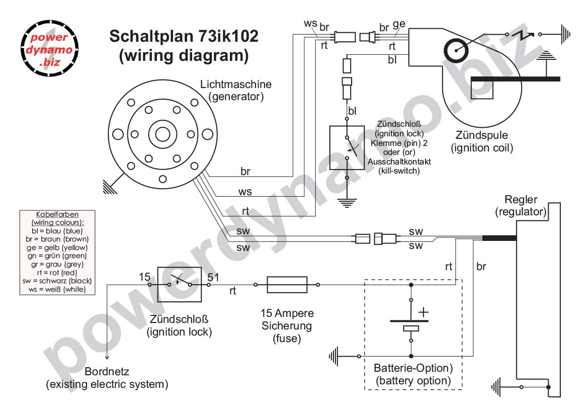 Powerdynamo Vape Ignition Dc System Husqvarna 67 71 Wr Bultaco Wiring Schematic 360 400 Large Shaft 115mm Automotive