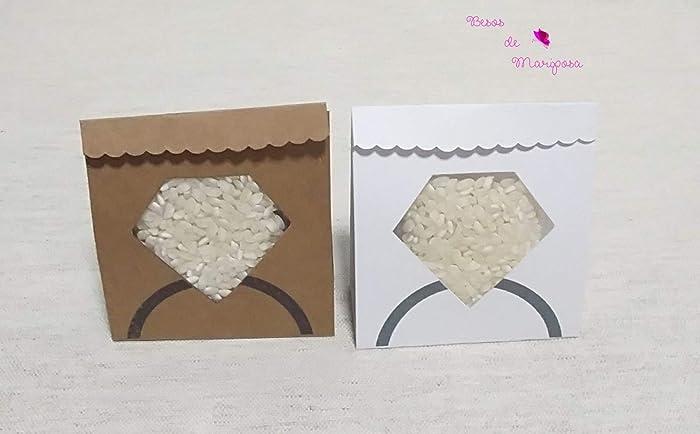 Arroz para bodas. 50 cajas/sacos de papel para presentar el ...