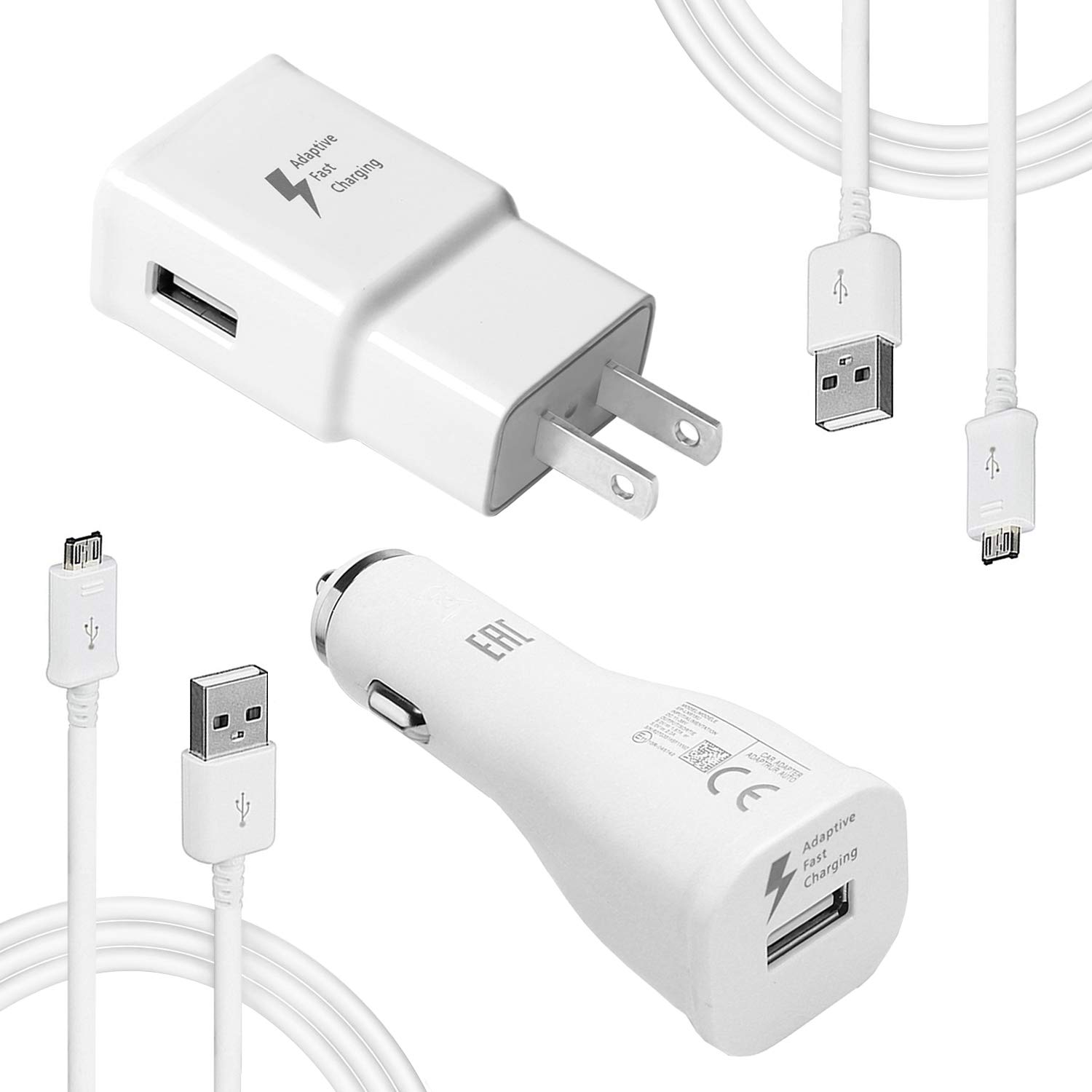 MBLAI Fast Charge Adaptive Fast Charger Kit for Samsung Galaxy S7/S7 Edge/S6/Note5/4 /S3,USB 2.0 Fast Charging Kit True Digital Adaptive Fast Charging (S7 Fast Charger Set) by MBLAI