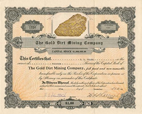 Amazon com: Gold Dirt Mining Company: Entertainment Collectibles
