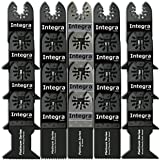 INTEGRA 20pc Mix Saw Wood Bi-metal Precision Pack Oscillating Multitool Quick Release Saw Blade Fit Fein Multimaster Porter Cable Black & Decker Bosch Ridgid Ryobi Milwaukee DeWalt Chicago Craftsman