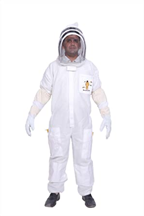 XL Protective Three Layer Bee Ultra Ventilated Round Veil Beekeeping Suit