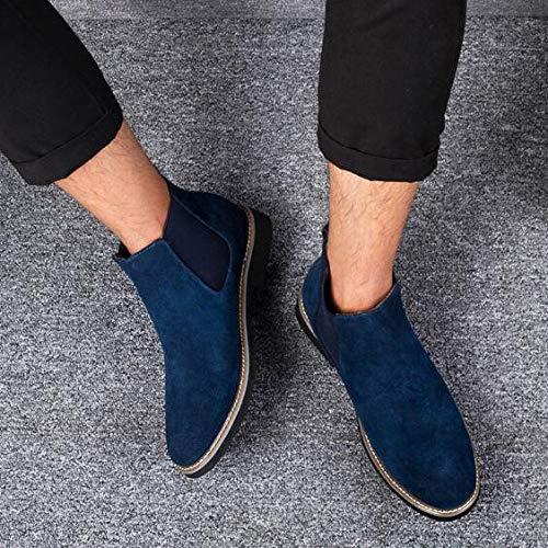 Uomo Stivali Camoscio Chukka in E in da Leggero Camoscio Stivaletti Blue YongBe Stivaletti Traspirante xqfawa