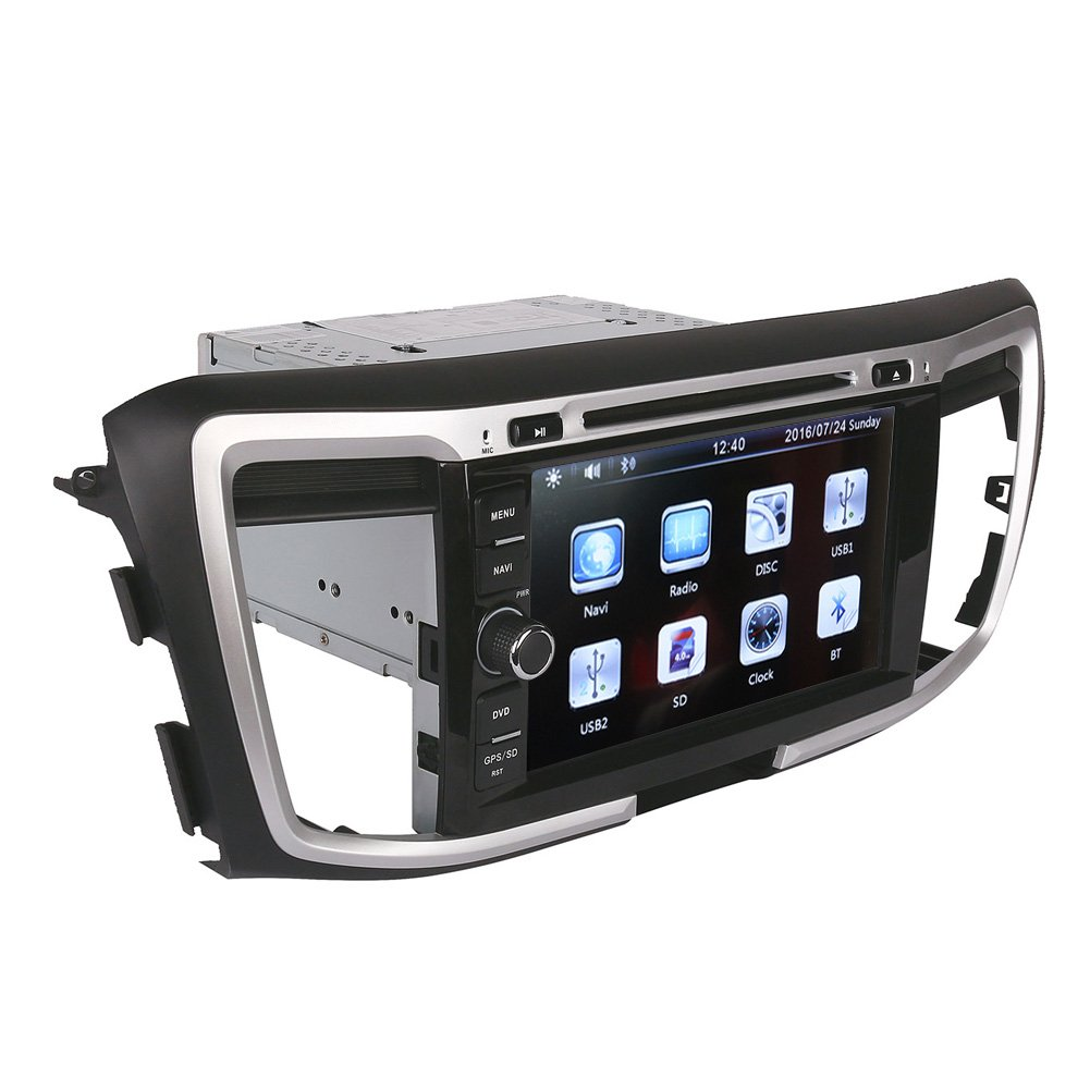 Amazon.com: 8 Inch Touch Screen Car GPS Navigation for HONDA ACCORD 2013-2016 Stereo DVD Player Video Radio Audio Bluetooth Steering Wheel Control AUX ...