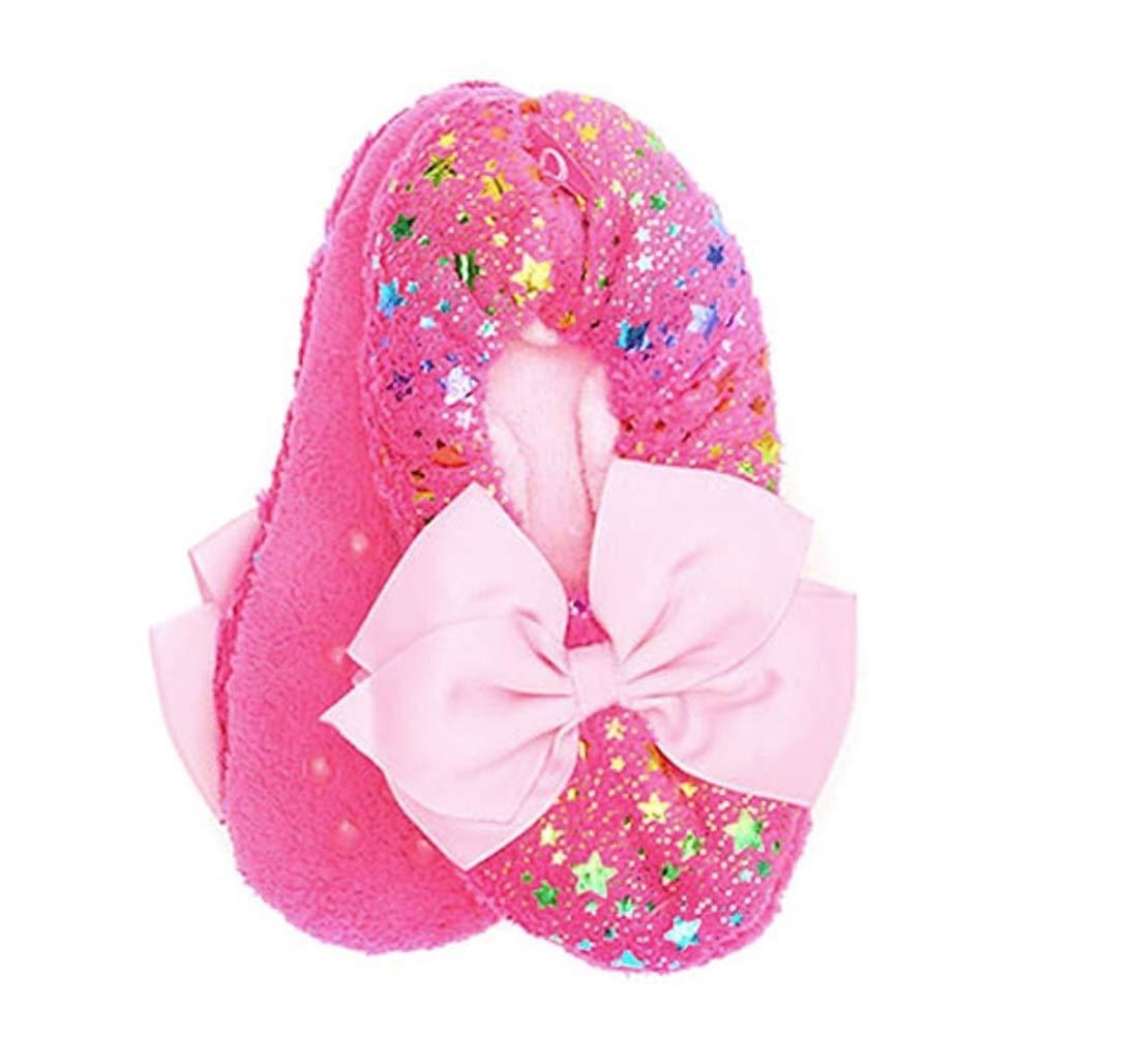 Nick Jr JoJo Siwa Girls Slipper Socks Sparkly Babba Slippers (S/M Fits Shoe Size 8-13, Pink)