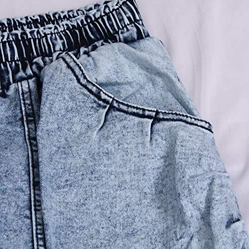 Youngii Bleu Jeans Denim Casual Crayon Hommes Pantalon Élastique Slim Mode Clair Hiver vvxwr4dfq