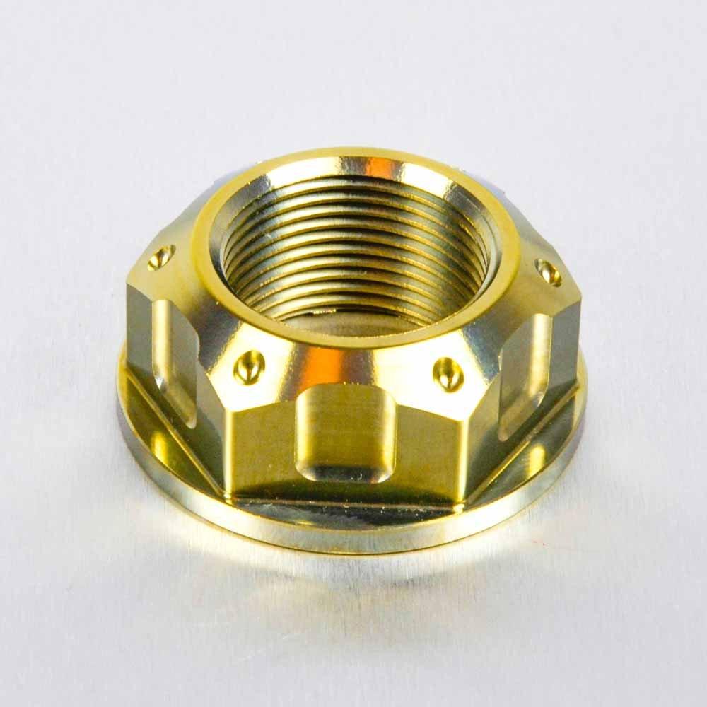 Titanium Axle Nut Swingarm Gold
