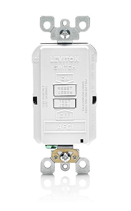 Leviton AFRBF-W 20-Amp 120-volt SmartlockPro Outlet Branch Circuit ...