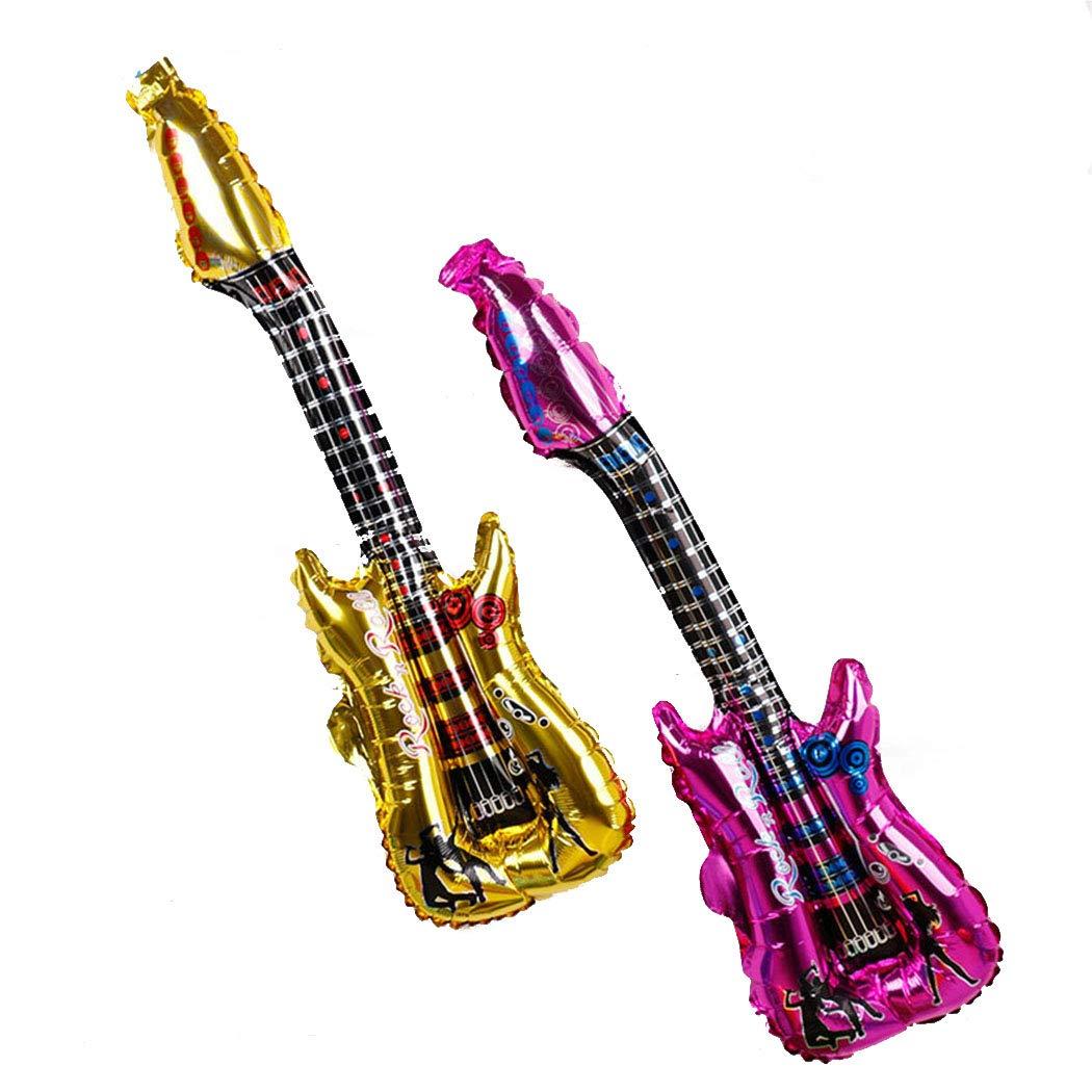 Joyibay 20PCS Globo de Aluminio para Niños Decoración de Fiesta Globo Forma de la Guitarra Globo Decorativo