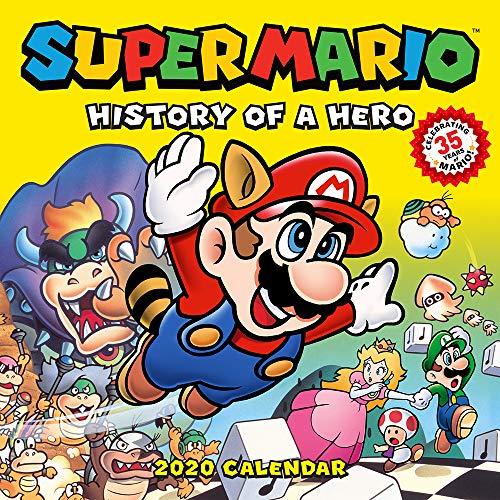 Price comparison product image Super Mario Retro 2020 Wall Calendar: History of a Hero