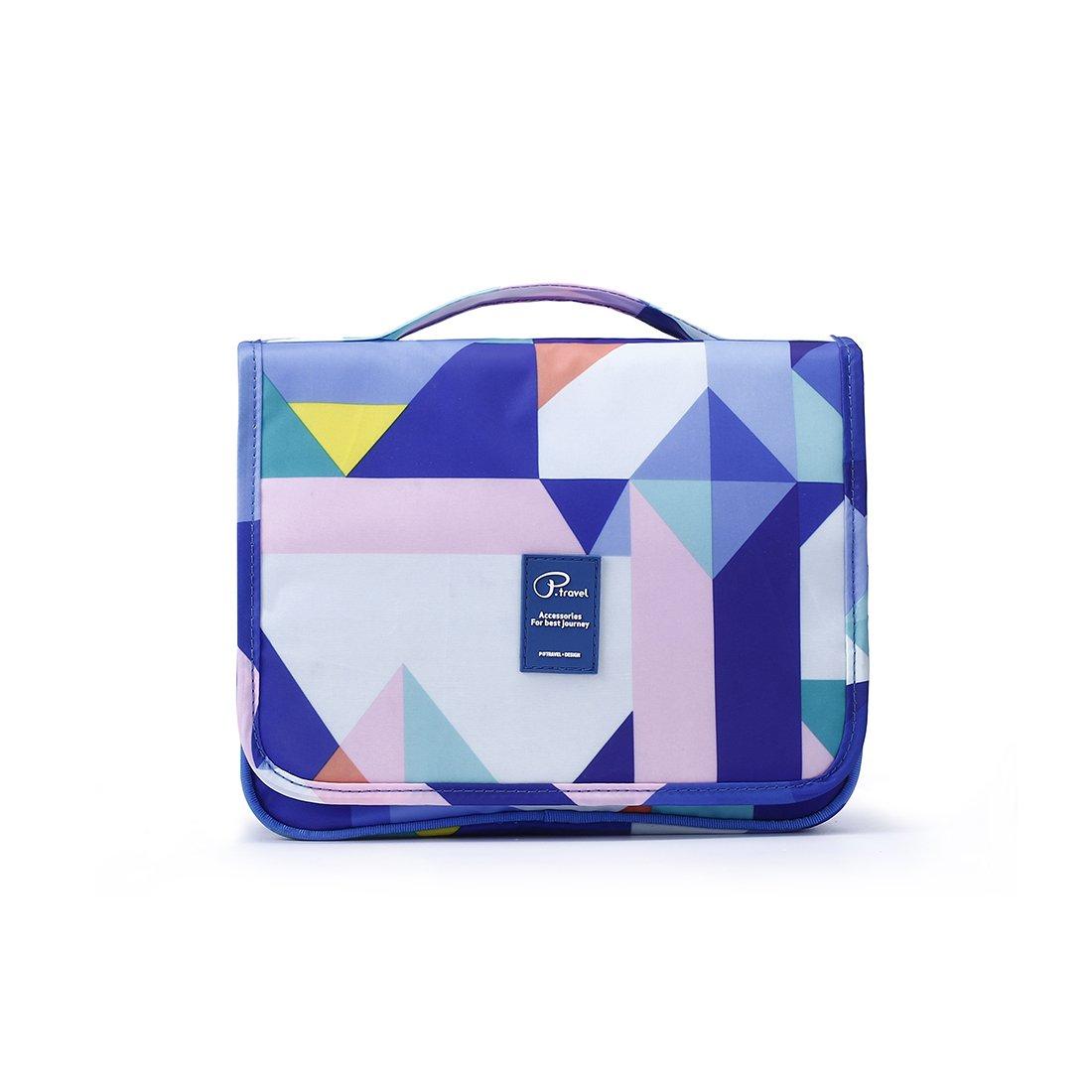 Best Travel Toiletry Bag TSA Friendly Makeup Organizer Big Bag for Womens Teen Girls Boys Kids, SUSU Blue Hanging Dopp Kit Organizer Set Compact Gym Bag Organizer Case Camping Toiletry Bag
