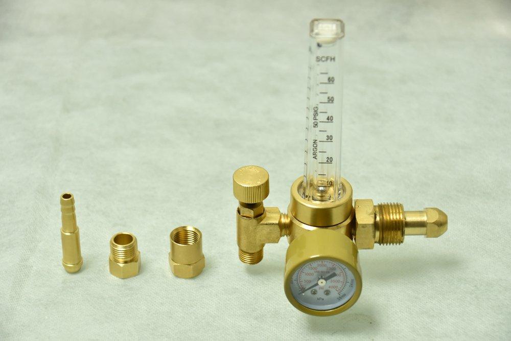 AGR-01 Argon Co2 Gas Gauge Regulator MIG/TIG Flow Meter Welder Welding Accs. AMICO POWER