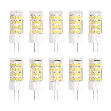G4 bombillas LED, LED Bombillas Luz 220V 2835 Ceramic LED Beads Crystal Home Spotlight Iluminación Lámparas de Luz Reemplazo de La Bombilla(51 LED 5W-Warm ...