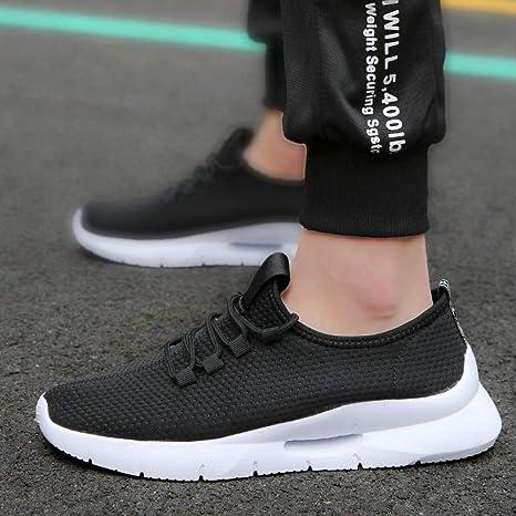QIMITE Zapatillas de Hombre,Calzado Deportivo Zapatillas de Deporte para Hombres Malla Transpirable Amortiguación de Aire Drop Fitness Size 39-44 Slow Shock Gym Male Running Shoes: Amazon.es: Deportes y aire libre