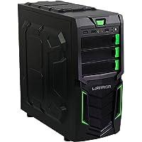 Gabinete Gamer Warrior Multilaser sem Fonte Verde Micro ATX GA139