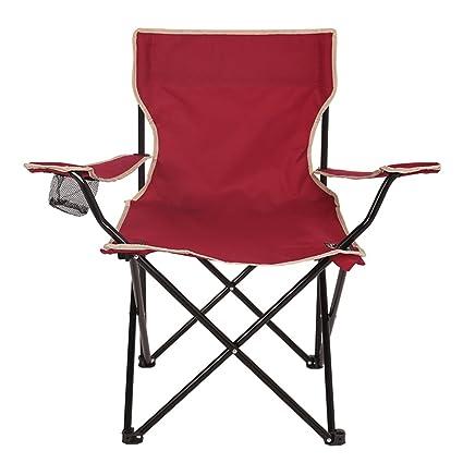 SjYsXm-Recliners chair Silla Plegable para Campamento Ligera y Duradera Royal Red Seat con reposabrazos