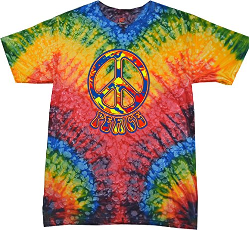 Buy Cool Shirts Funky Peace Sign Tie Dye Shirt, Woodstock 2XL