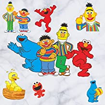 Fangeplus(TM) DIY Removable American Cartoon Sesame Street Elmo Big Bird Cookie Monster Bert Art Mural Vinyl Waterproof Wall Stickers Kids Room Decor Nursery Living Room Decal Sticker Wallpaper23.6'X17.7''