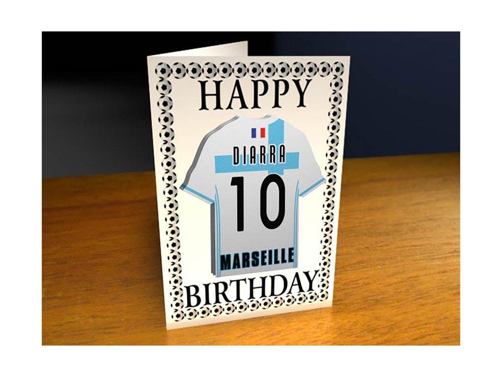 Olympique De Marseille Format A4 Carte D Anniversaire Personnalis E