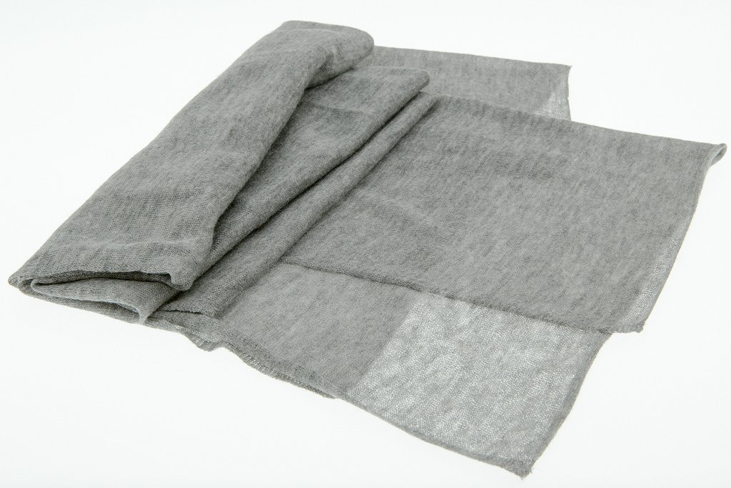 JD Love Women's Silk and Cashmere Scarf 76''X 20'' Grey